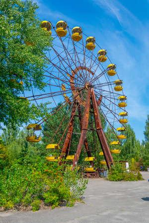 Ferris wheel at Pripyat amusement park in the Ukraine