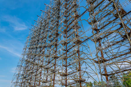 Steel construction of Radar Duga station in the Ukraine