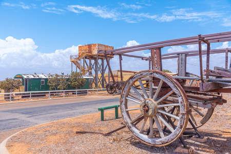 Outdoor exhibition of industrial machinery at Carnarvon, Australia