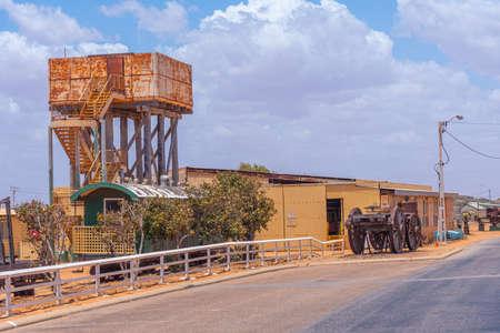 Outdoor exhibition of industrial machinery at Carnarvon, Australia Editorial