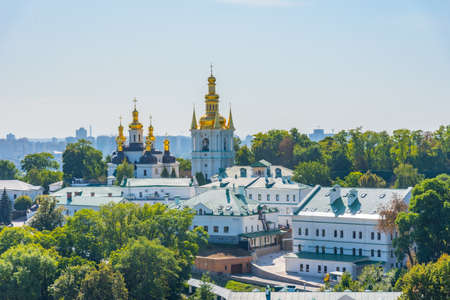 Aerial view of lower part of Kiev Pechersk lavra in Kiev, Ukraine
