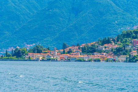 Torno village and lake Como in Italy Stockfoto