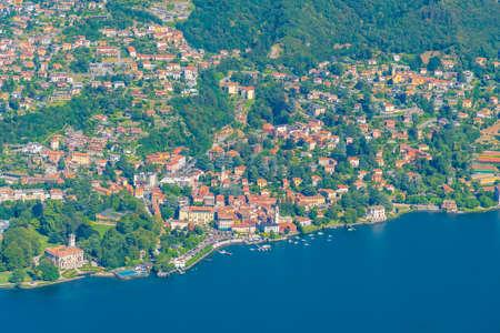 Aerial view of Villa Erba at lake Como in Italy