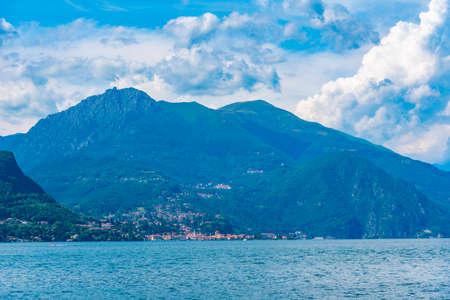Menaggio town and lake Como in Italy