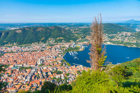 Aerial view of town Como in Italy Stockfoto
