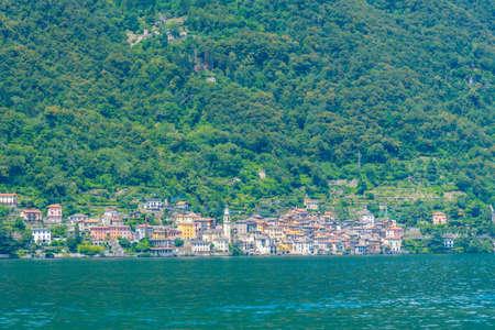 Brienno village and lake Como in Italy