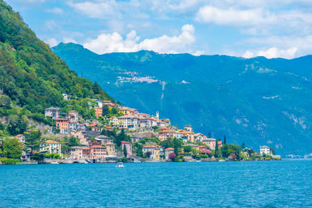 Torriggia village and lake Como in Italy