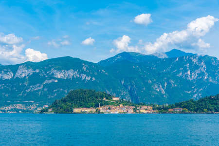 Bellagio town and lake Como in Italy