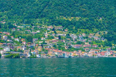 Argegno village and lake Como in Italy