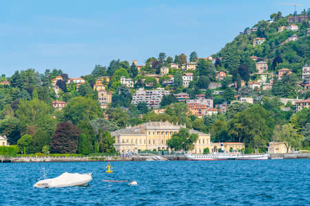 Villa Olmo situated on shore of Lago di Como in Italy