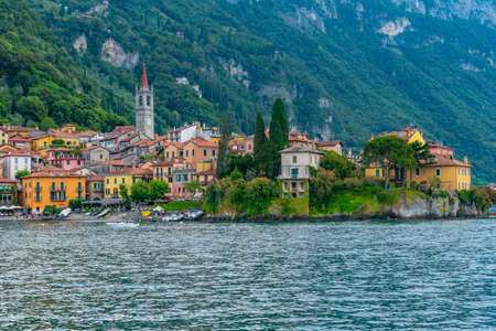 Varenna town situate at lake Como in Italy