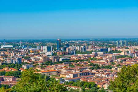 Aerial view of Italian city Brescia