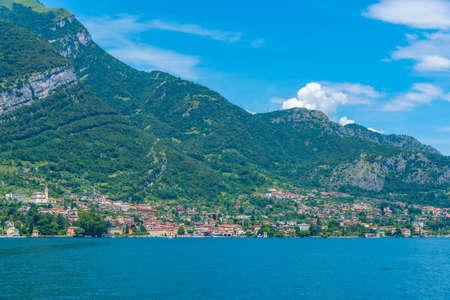 Tremezzo town and lake Como in Italy Stockfoto