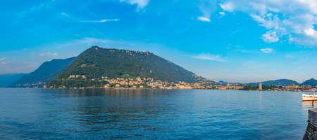 Brunate village overlooking lake Como in Italy