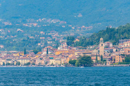 Cityscape of Salo in Italy Imagens