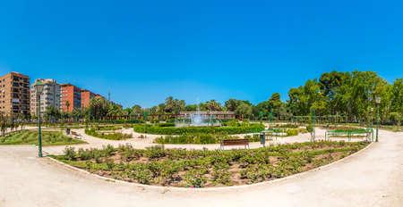 Rose garden at Royal gardens in Spanish city Valencia 写真素材