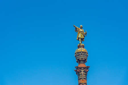 Mirador de Colom column in Barcelona, Spain