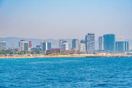 Seaside of port forum in Barcelona, Spain Banque d'images