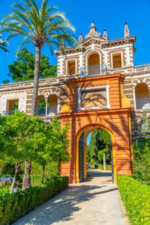 Privilege gate at gardens of Real Alcazar de Sevilla in Spain