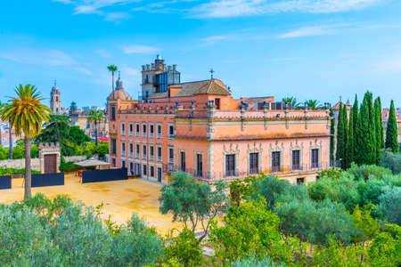Villavicencio palace at the ground of alcazar of Jerez de la Frontera in Spain