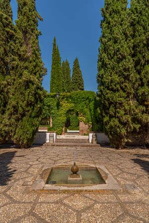 Garden of the Palacio de los Cordova in spanish town Granada