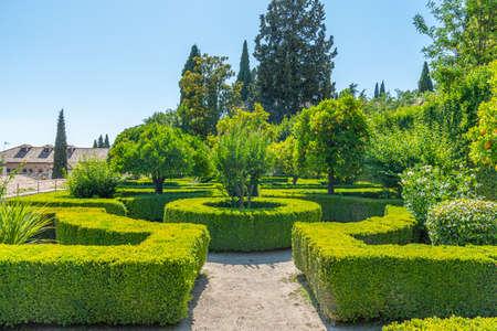Garden at Casa del Chapiz in Granada, Spain