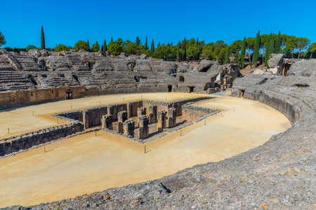 The Roman amphitheatre at Italica, Spain