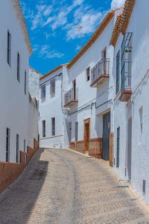 White street of Spanish town Carmona Archivio Fotografico