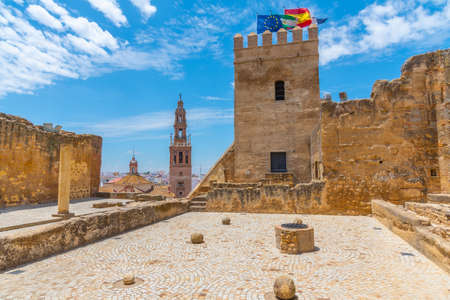 Alcazar fortress and church of San Pedro in Spanish town Carmona
