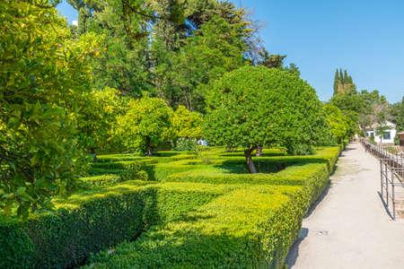 Garden at Casa del Chapiz in Granada, Spain Reklamní fotografie