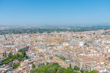 Aerial view of cathedral of Granada in Spain during summer Reklamní fotografie