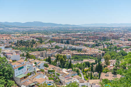 Skyline of new districts of Granada, Spain