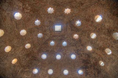 Interior of El Banuelo, arabic spa house in Granada, Spain Banque d'images