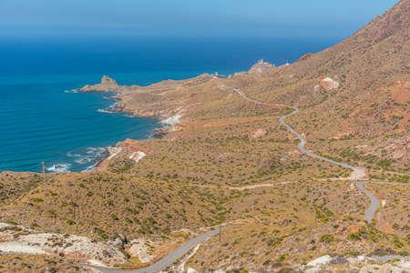 Landscape of Cabo de Gata-Nijar natural park in Spain