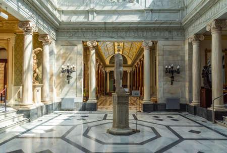 MURCIA, SPAIN, JUNE 19, 2019: Patio Pompeyano inside of the Real Casino de Murcia in Spain Redactioneel