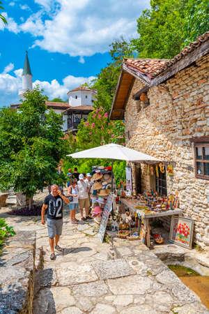 BALCHIK, BULGARIA, JULY 13, 2019: Palace of Queen Maria in Bulgarian city Balchik Editorial
