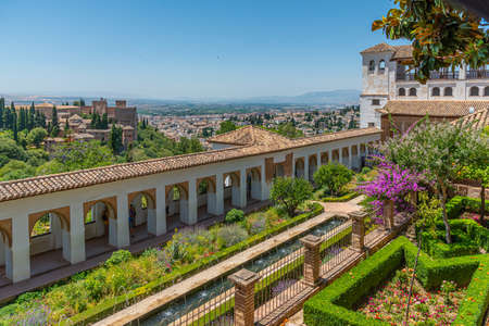 Alhambra and Generalife palace in Granada, Spain