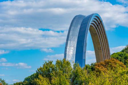 Friendship of the nations arch in Kiev, Ukraine 新闻类图片