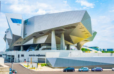 Muse des Confluences is a science and anthropology museum situated on confluence of Saone and Rhone rivers in Lyon, France