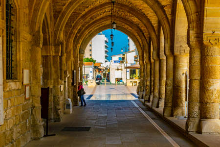 Arcade of Church of Saint Lazarus in Larnaca, Cyprus