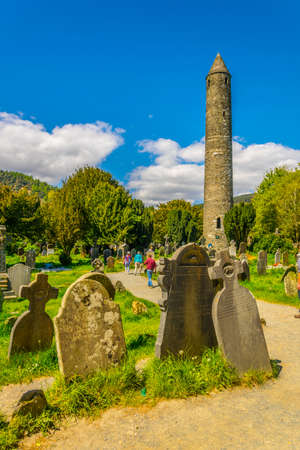 An Ancient cemetery in Glendalough settlement, Ireland