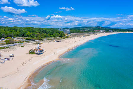 South beach at Primorsko in Bulgaria