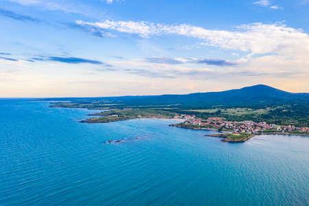 Aerial view of Bulgarian seaside town Tsarevo