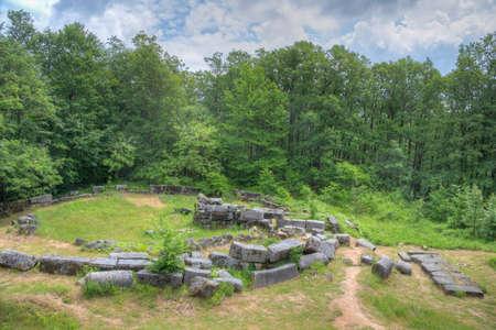 Mishkova niva ruins near Malko Tarnovo town in Bulgaria Stock fotó