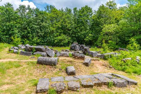 Mishkova niva ruins near Malko Tarnovo town in Bulgaria