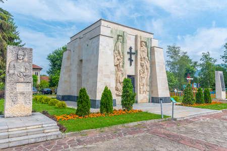Memorial-ossuary of Botev rebels in Skravena, Bulgaria Stock fotó