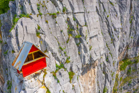 Shelter for climbers at Lakatnik rocks in Bulgaria