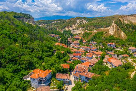 Aerial view of Bulgarian town Melnik