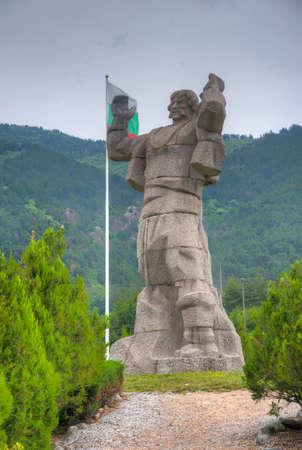 Statue of Bori Mechkata at Klisura, Bulgaria