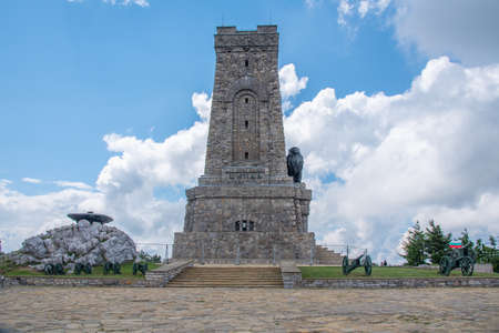 Monument to Freedom commemorating battle at Shipka pass in 1877-1878 in Bulgaria